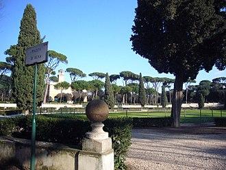 Villa Borghese gardens - Siena Square, inside the Villa Borghese gardens.