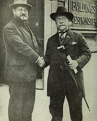 International Labour Organization - Samuel Gompers (right) with Albert Thomas, 1918