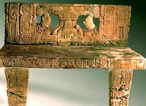 Piedras Negras (Maya site) - Throne 1 of Piedras Negras