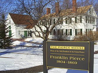 Franklin Pierce - The Concord house where Pierce lived from 1842 to 1848 is now known as the Pierce Manse. The house was restored in the 1970s and is now maintained as a historic attraction.