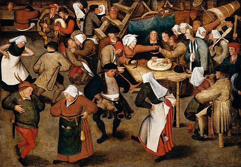 Archivo:Pieter Brueghel the Younger - The Wedding Dance in a Barn - WGA3636.jpg