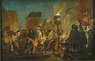 Fête nocturne sur la Grand Place de Haarlem
