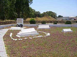 Siege of Acre (1799) - Cemetery for Napoleon's soldiers in Acre, including the grave of General Caffarelli.
