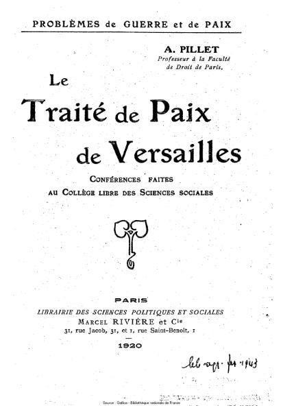 File:Pillet - Le Traité de paix de Versailles.djvu