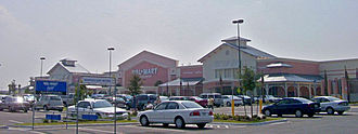 Palm Bay, Florida - Pink Wal-Mart Supercenter built in 2005: the city uses Key West vernacular architecture.