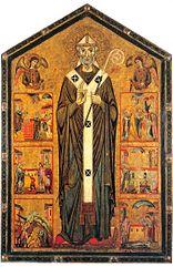 Saint Veranus between two angels and six stories of his life