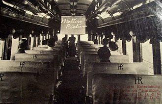 Pittsburgh, Harmony, Butler and New Castle Railway - By 1920, films were shown for the entertainment of the line's passengers.