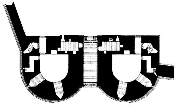 Plan of the Great Gatehouse Plan of Dunstanburgh Castle gatehouse.jpg