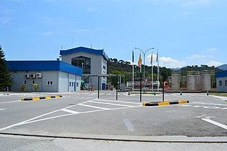 Almirall - Almirall chemical plant near Sant Celoni, Catalonia.
