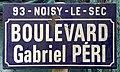 Plaque Boulevard Gabriel Péri - Noisy-le-Sec (FR93) - 2021-04-16 - 1.jpg