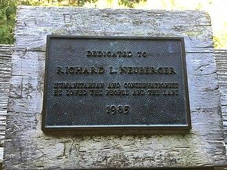 Richard L. Neuberger - Dedication plaque at Oregon Dunes Overlook, Oregon Dunes National Recreation Area