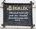 Plaque on an 18th century Baroque building, Kőszeg, 2016-03-07.jpg