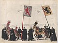 Plate 36- Men with heraldic flags and horses from Zutphen and Namur marching in the funeral procession of Archduke Albert of Austria; from 'Pompa Funebris ... Alberti Pii' MET DP874758.jpg
