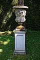 Plinth urn planter at Easton Lodge Gardens, Little Easton, Essex, England 01.jpg
