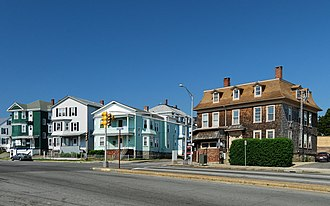 Corky Row Historic District - Image: Plymouth Avenue at Lyon Street