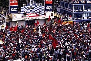 1995 Italian Grand Prix - Podium celebration after the race
