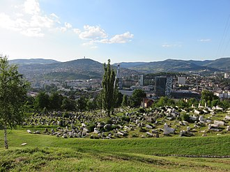 Jews in Bosnia and Herzegovina - View from the Old Jewish Cemetery, Sarajevo