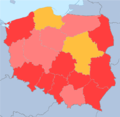 Poland total fertility rate by region 2014.png