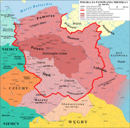 Poland and its neighbours as of 960-992