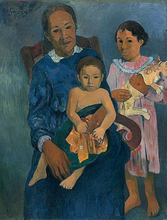 Helen Birch Bartlett Memorial Collection - Image: Polynesian Woman with Children 1901 Paul Gauguin