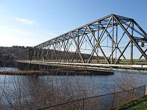 Richmond, Quebec - The Mackenzie Bridge linking Richmond and Melbourne.