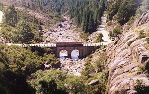Norte Region, Portugal - Arado river bridge, Peneda-Gerês National Park, an area with expressive rainfall.