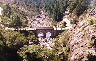 Norte Region, Portugal - Arado river bridge, Peneda-Gerês National Park, an area with expressive rainfall.
