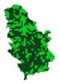 Pontia edusae mapa rasprostranjenja Srbija.png