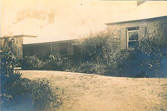 "Seaham, New South Wales - Historic ""Porphyry"" homestead, built in 1840, was destroyed by fire in 1939"