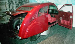 Volkswagen - Model of Porsche Type 12 (Zündapp), Museum of Industrial Culture, Nuremberg