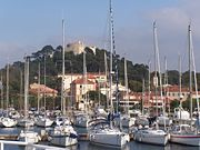 Port of Porquerolles, an island in Var.