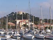 Port of Porquerolles, an island in Var.