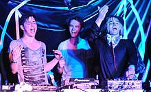 Porter Robinson, Zedd, and Skrillex at the 2012 SXSW cropped.jpg