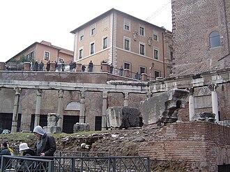Vettius Agorius Praetextatus - The Porticus Deorum Consentium in the Roman Forum; it was restored in 367 by Praetextatus, who reorganized also the worship of the Di Consentes, the protectors of the Roman Senate.