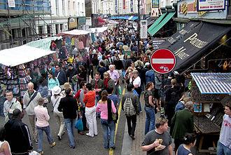 Portobello Road - Portobello Road Market, June 2005.