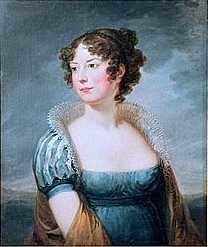Porträtt föreställande Sophie Piper, målning av Carl Fredrik von Breda
