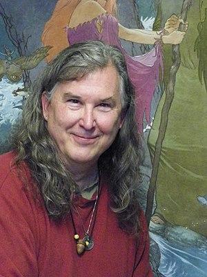 Charles Vess - Charles Vess in his studio, Green Man Press, in Abingdon, Virginia.
