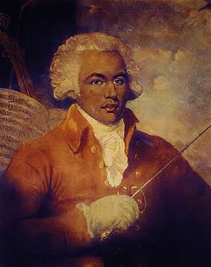 "Abolitionism - The Chevalier de Saint-Georges, known as the ""Black Mozart"", was, by his social position, and by his political involvement, a figurehead of free blacks"