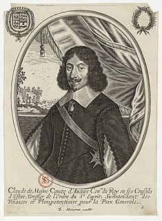 Claude de Mesmes, comte dAvaux 17th century French diplomat