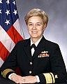 Portrait of US Navy Rear Admiral (upper half) Linda J. Bird.jpg