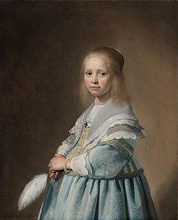 <i>Girl in a Blue Dress</i> painting by Johannes Cornelisz. Verspronck