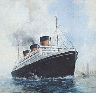 Oceanic (unfinished ship) - Image: Postcard of the Oceanic III