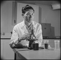 Poston, Arizona. Doctor George S. Kido, PhD from the University of California, and developer of a m . . . - NARA - 537109.tif