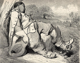 Ogre - Hop-o'-My-Thumb steals the ogre's seven-league boots (illustrated by Gustave Doré, 1862).