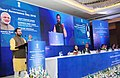 Prakash Javadekar addressing after launching the 'Swachh Swasth Sarvatra', a joint initiative of the Ministry of Health & Family Welfare and Ministry of Drinking Water & Sanitation.jpg