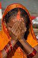 Praying Devotee - Chhath Puja Ceremony - Baja Kadamtala Ghat - Kolkata 2013-11-09 4256.JPG