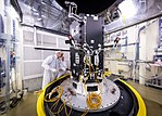 Preparation of the developing Solar Probe Plus spacecraft for thermal vacuum tests.jpg