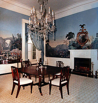 President's Dining Room - The President's Dining Room after its creation during the Kennedy administration.