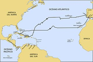 Recorrido del Primer Viaje de Colón.