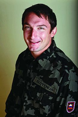 Primož Kozmus in military uniform in 2009.jpg
